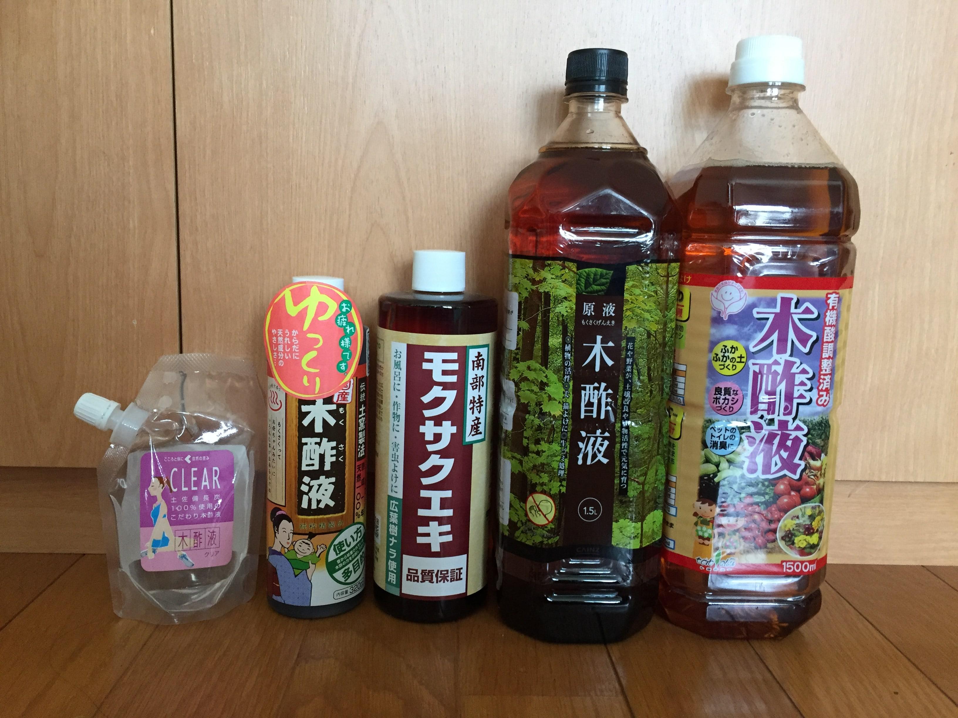 Amazonランキング上位&市販の木酢液を比べてみた①。木酢液ごとの特徴&選ぶポイント。|画像1